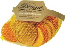 Divine Fairtrade Net Of  Milk Chocolate Coins 65g